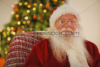 Portrait of santa claus with his glasses