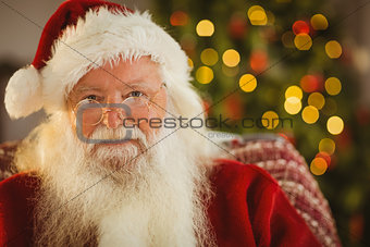 Portrait of santa with his glasses