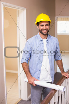 Casual architect smiling at camera