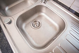 Brushed steel sink
