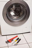 Washing machine with tools