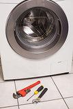 Washing machine with tools