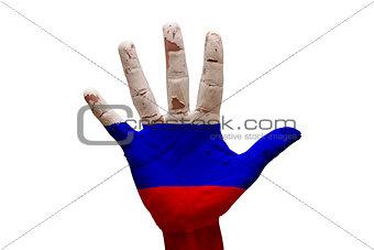 palm flag russia