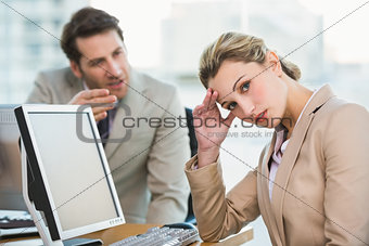 Businessman arguing with a colleague