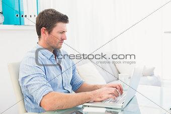 A businessman at his desk