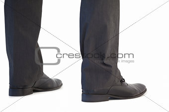 Close up of legs of a businessman