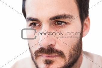 Close up of serious businessman
