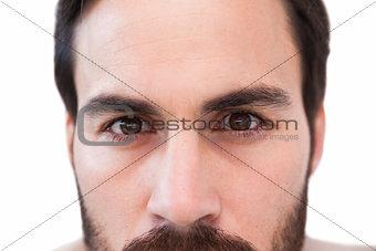 Close up of focused businessman