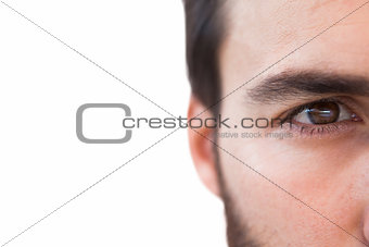 Close up of focused businessman