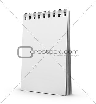 blank notebook isolate with clipping path