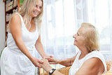 Providing help and care for elderly