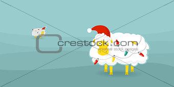 Christmas card sheep