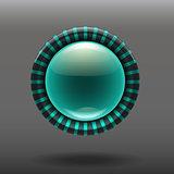 Blue shiny glass buttons