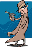 detective or gangster cartoon illustration