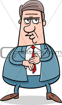 businessman character cartoon illustration