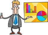 businessman presentation cartoon illustration