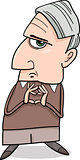 thinking man cartoon illustration