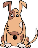 surprised dog cartoon illustration