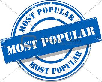 Blue most popular tag stamp