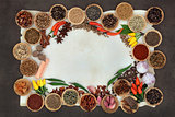 Spice and Herb Abstract Border