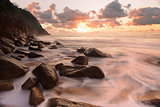 Rocky ocean flows Zenith Beach Seascape