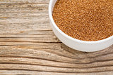 teff grain in bowl