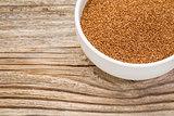 teff grain in bowl