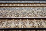 Two parallel railway tracks