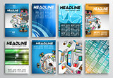 Set of Flyer Design, Web Templates. Brochure Designs