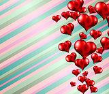 Lovely striped Valentine's day themed background