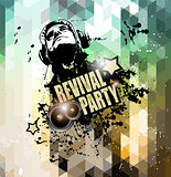 Disco flyer design for music club night events promotion