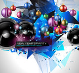 New Year's Party Flyer design for nigh clubs event