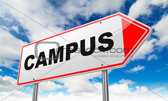 Campus on Red Road Sign.