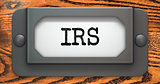 IRS Inscription on Label Holder.