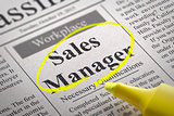 Sales Manager Jobs in Newspaper.