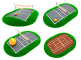 Sport Concepts - Set of 3D Illustrations.