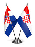 Croatia - Miniature Flags.
