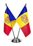 Andorra- Miniature Flags.