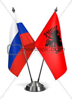 Albania and Russia - Miniature Flags.