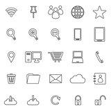 Internet line icons on white background