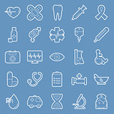 Medical lines icons set