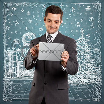 Man Looking For Christmas Gifts