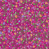 Color floral seamless pattern