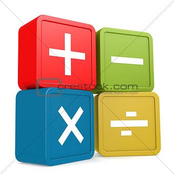 Math sign block