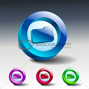 Folder. Vector illustration file icon symbol