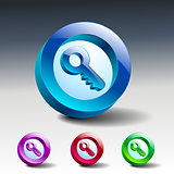 vector key icon secure security web