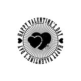 Black and white hearts Valentine