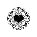 Black Valentine stamp
