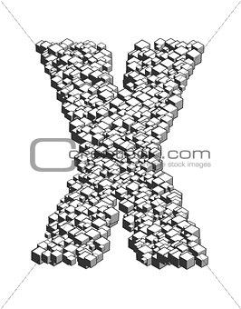 3D Cube Letter X