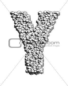 3D Cube Letter Y